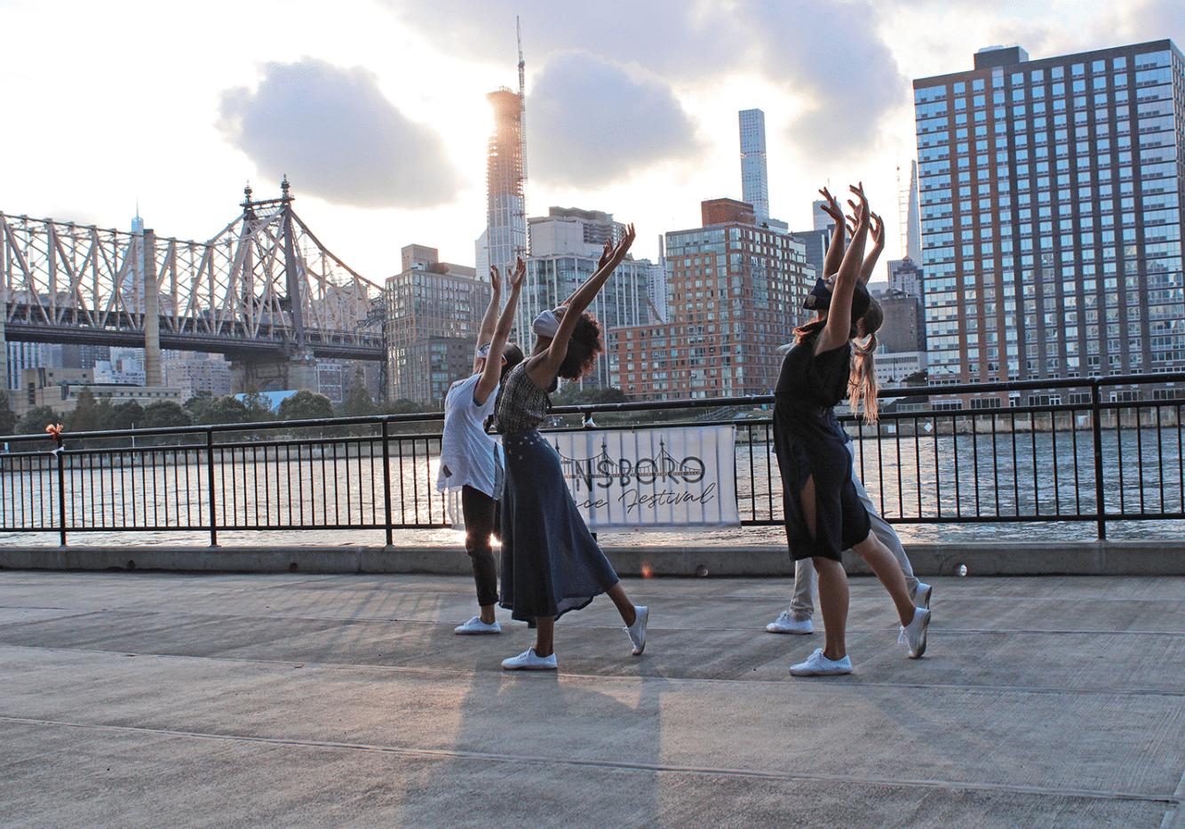 QDF dancers at the East River
