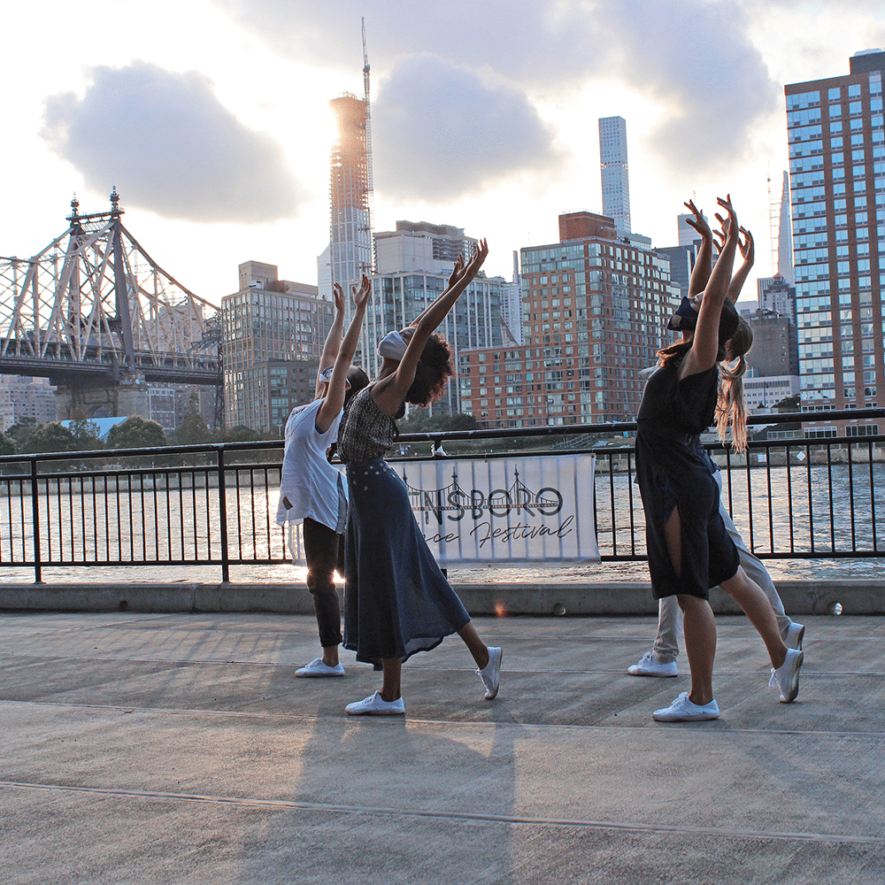 QDF dancers at the East River